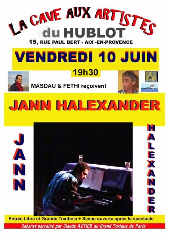 Jann Halexander en concert 'Affidavit' à Aix-en-Provence à la Cave aux Artistes