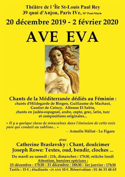 'Ave Eva' ou la voix pure de Catherine Braslavsky