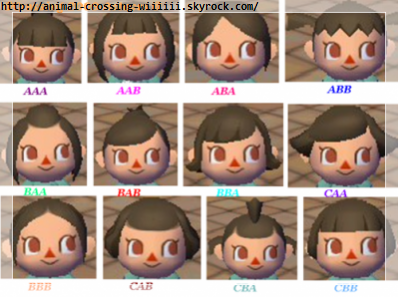 Les coiffures et les visages animal crossing let 39 s go to the city - Coupe animal crossing new leaf ...