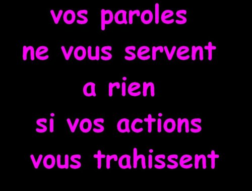 ACTIONS VS PAROLES