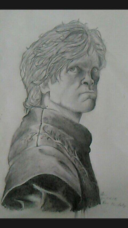 Un vieux portrait que j'ai retrouvé, Tyrion de Games of thrones x)