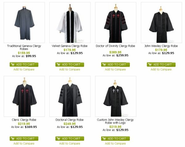 Ivyrobes Clergy Robe Doctor of Divinity for Pulpit Black