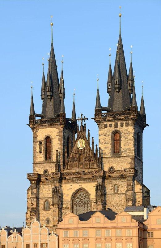 L'église de Notre-Dame du Týn, à Prague.