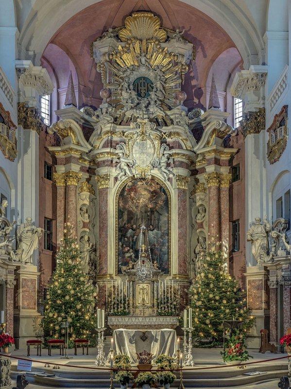 Le ch½ur de l'église Saint-Martin de Bamberg (Bavière, Allemagne)