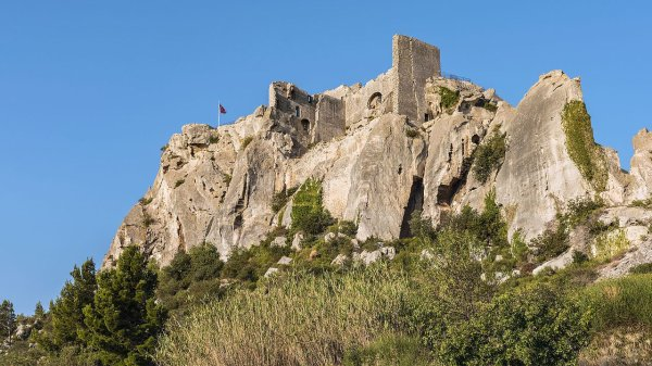 Le château des Baux-de-Provence (Provence-Alpes-Côte d'Azur)