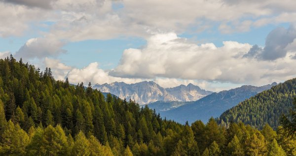 Paysage du parc national du Stelvio à Peio (Trentin-Haut-Adige).