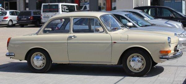 Une Volkswagen 1600 Type 3, modèle 1969-1973