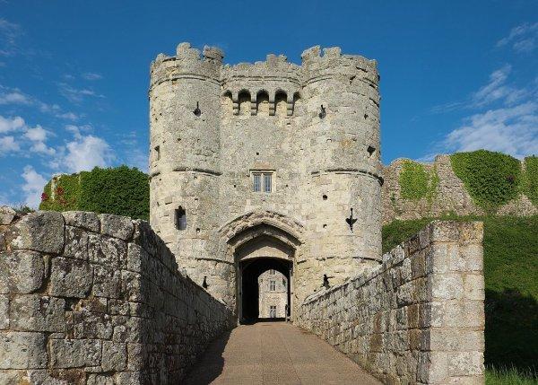 Le château de Carisbrooke (île de Wight).