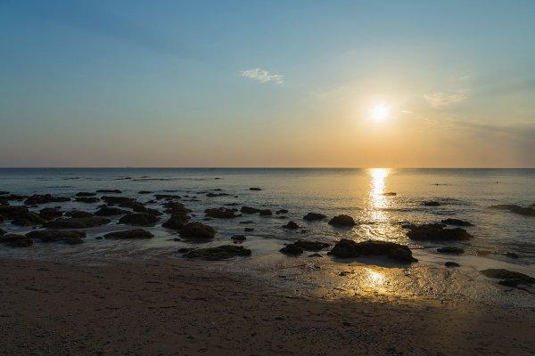 Coucher de soleil sur la mer d'Andaman (Koh Lanta Yai, Thaïlande)