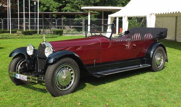 Une Bugatti Type 41, modèle 1926