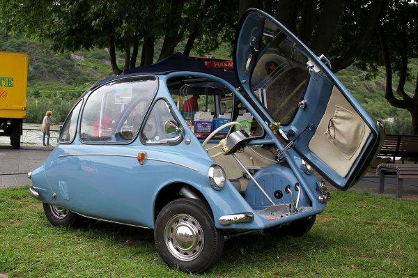 Une Heinkel Kabine 154, modèle 1957.