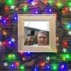 Cadre entouré d'une guirlande de Noël