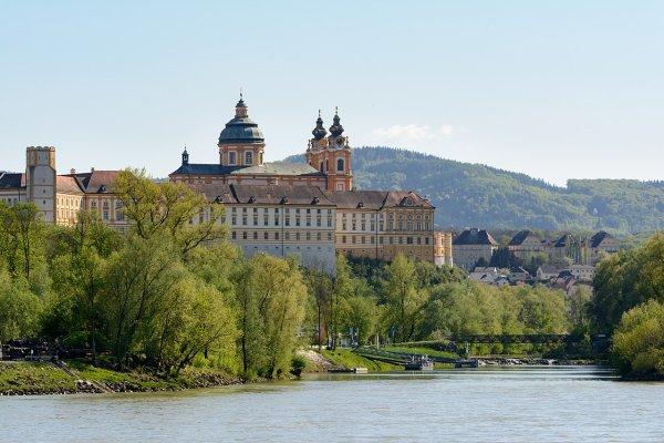 L'abbaye de Melk et le Danube (Basse-Autriche)