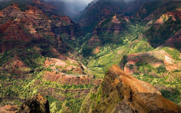 Le canyon de Waimea, dans l'île Kauai (Hawaï)
