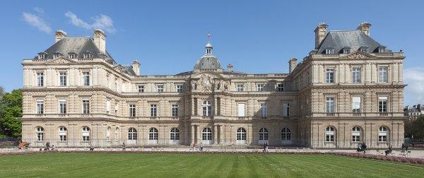 Le palais du Luxembourg, siège du Sénat, dans le 6e arrondissement de Paris