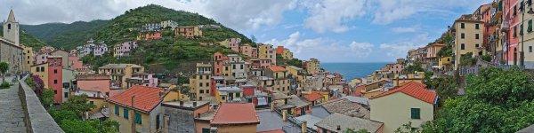Vue panoramique de Riomaggiore, en Ligurie
