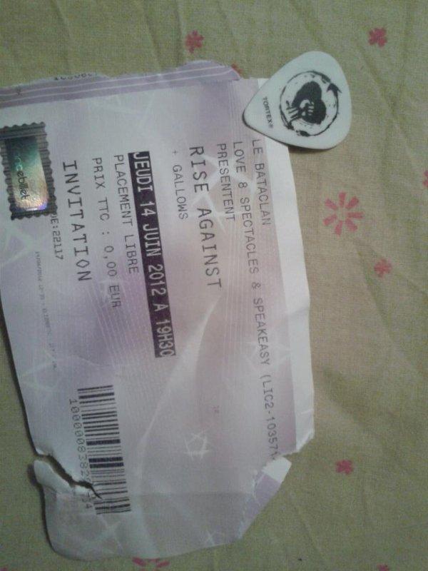 Rise Against @ Le bataclan 14 juin 2012