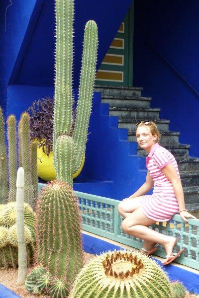 Mwa autour des cactusse