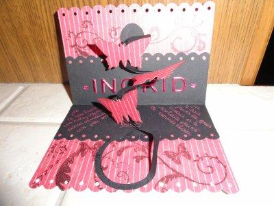 Les cartes: carte d anniversaire pour Ingrid
