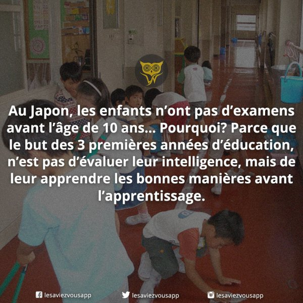 Education japonaise !!!