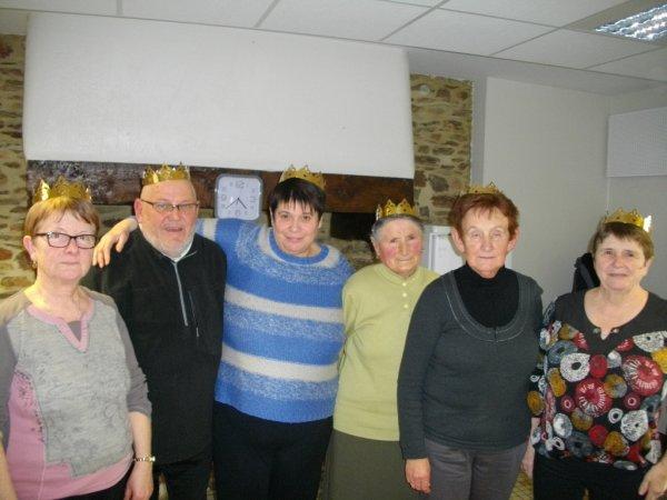Galette des Rois au Club des retraités  de la commune cet après-midi !!!!