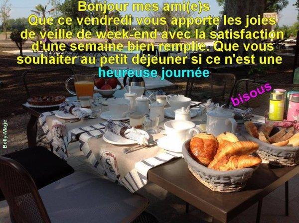 Bonjour les Ami(e)s.