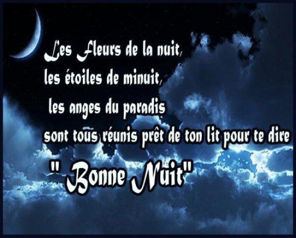 Belle et douce nuit à vous tous !!!