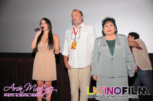 Dulce María no Festival de Cinema Latino San Diego em San Diego, México (07.03.12)