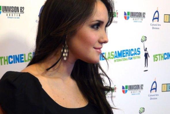 Dulce María no Cine Las Americas International Film Festival em Austin, EUA (24.04.12)