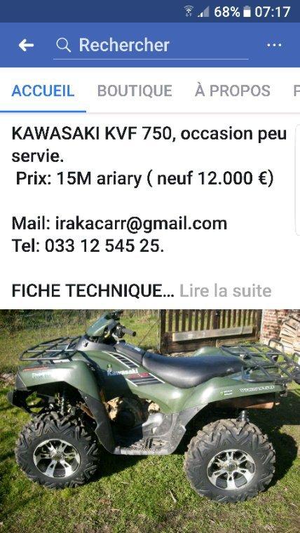 Quad Kawasaki 750