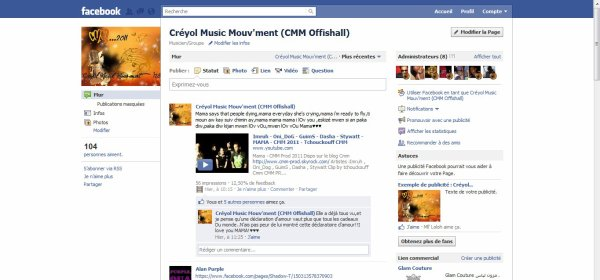 Du nouveau people! La Page Facebook Officielle du Créyol Music Mouv'ment