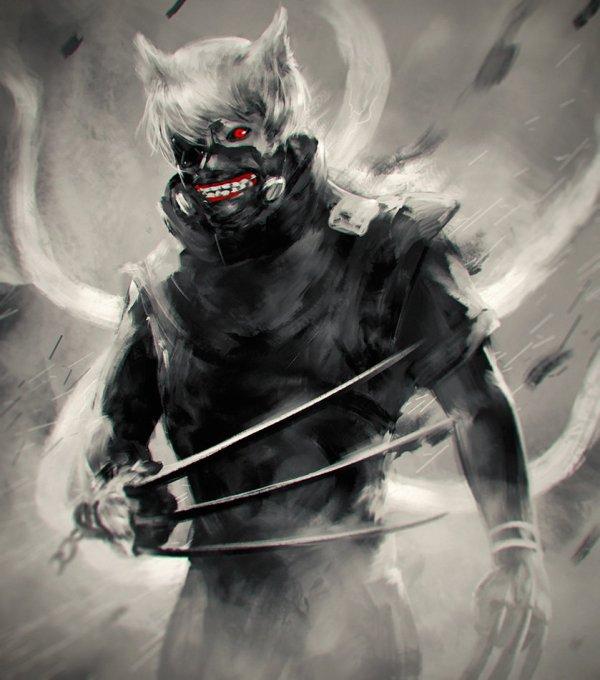 Kaneki version Loup-Wolverine O.O