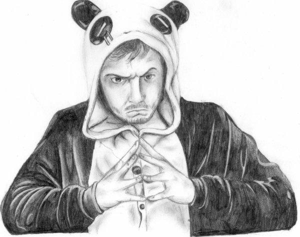 Dessin Mathieu Sommet/Maître Panda !