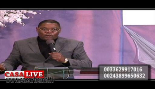 Prédication avec le pasteur Louison Musi-Ntor