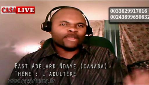 Prédication avec le pasteur Adelard Ndaye