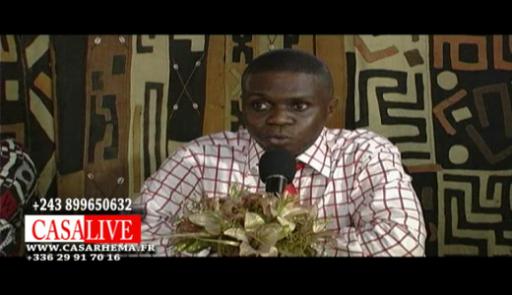 conférence de presse avec Aimé Nkanu