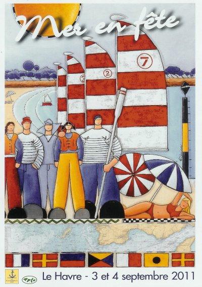 """Affiche """"mer en fête"""" 2011"""