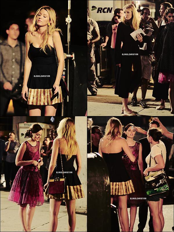 02/08/12 -  Blake sur le set de Gossip Girl !