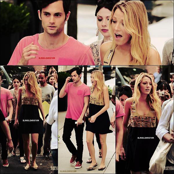 10/08/12 -  Blake était encore sur le set de Gossip Girl !