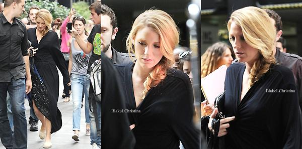 21/08/12 :   Une fois encore, Blake a été aperçue sur le plateau tournage de Gossip Girl, dans  NY.