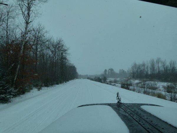 Tempête de neige rencontrée dans l'état du Wisconsin