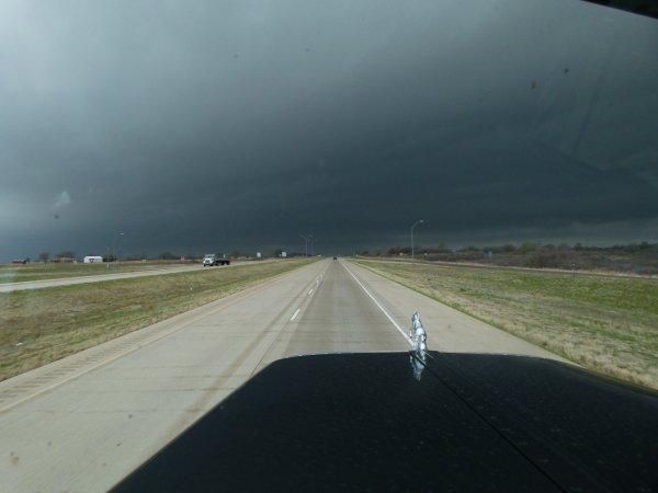 Tempête orageuse rencontrée au Texas