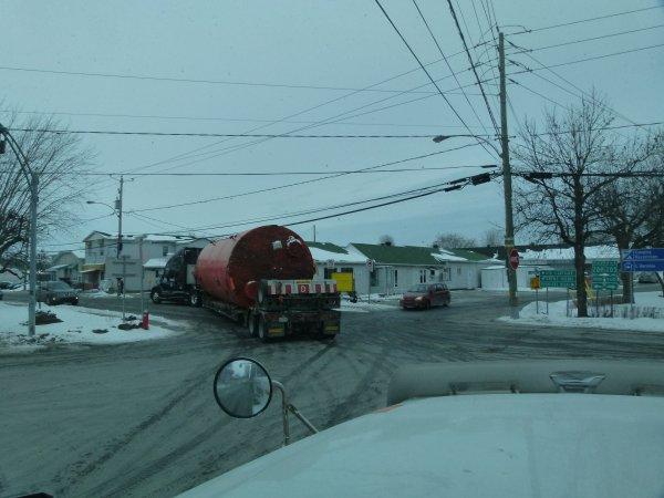 ;)    Mon premier convoi sur la province du Québec    ;)