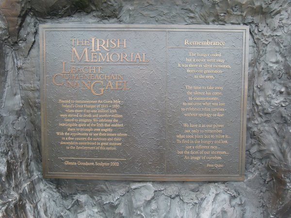 The Irish Memorial