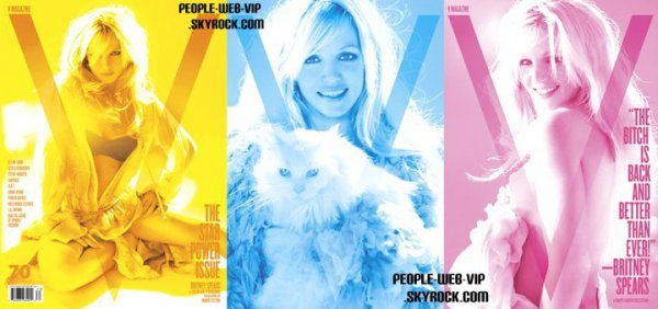 """BRITNEY SPEARS POUR LE MAGAZINE """" V """"  Moi je dit, Vive Photoshop !"""