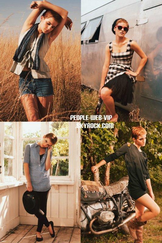 Emma Watson modèle pour  People Tree Collection