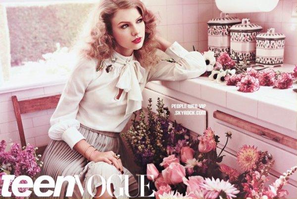 """TAYLOR SWIFT : En couverture pour """" TEEN VOGUE """""""