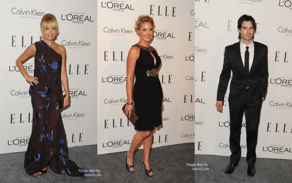 Nicole Richie, Jennifer Aniston, Ian Somerhalder, Katherine Heigl, Freida Pinto & Reese Witherspoon Pendant le Elle's 18th Annual Women in Hollywood Tribute (lundi (Octobre 17) à Beverly Hills, en Californie)