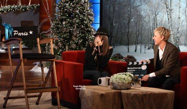 > Paris Jackson  Paris accorde sa premiere interview au Ellen DeGeneres Show ( jeudi (Décembre 15).