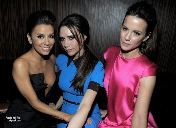 Kate Beckinsale, Victoria Beckham & Eva Longoria à la Vanity Fair and Chrysler party fête organisée à Beso. Restaurant d'Eva Longoria (jeudi (Février 23) à Hollywood.)